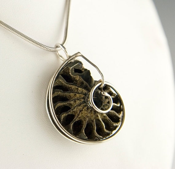 Antique Ammonite Shell Necklace