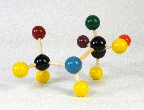Colorful Molecular Model, Chemistry / Science Classroom Teaching Aid