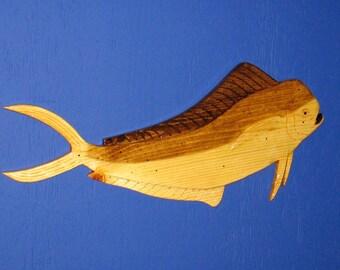 Mahi Mahi Wall Plaque, Sport Fish, Mahi Mahi, Dolphin Fish, Wall Plaque, Wall Hanging, Bull Dolphin Wall Hanging