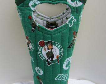Boston Celtics Wine Tote Bag Wine Gift Bag Liquor Bag Reuseable Wine Bag