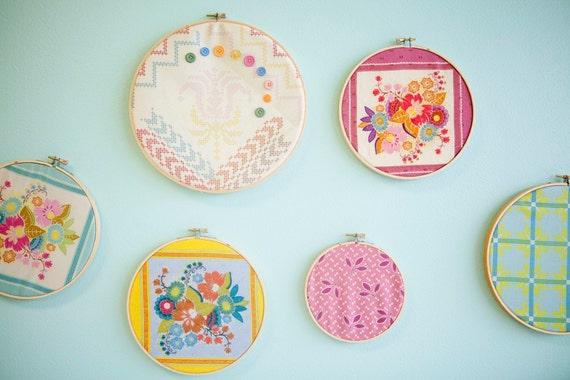 Custom Nursery Decor-  Made to Match Fabric Wall Hoops