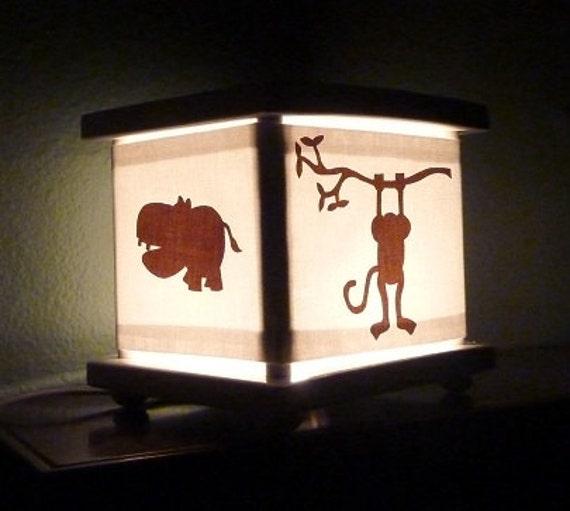 RESERVED FOR ELLA Monkey Jungle Lantern Night Light Lamp