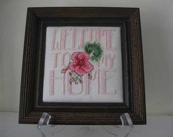 Welcome to My Home Counted Cross Stitch Beaded Sampler