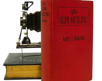 """Baker, Amy J. """"The Slim Outline"""", 1928, Rare First Edition Hardcover Fiction"""