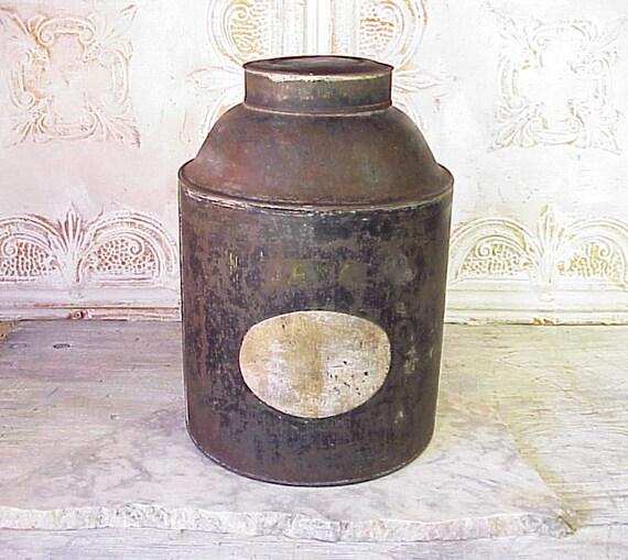 Vintage Rustic Coffee Tin Java
