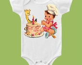 1st Birthday, Patty Cake,Bodysuit, Cake smash,One Piece Baby,First Birthday Shirt ,Tank or tshirt by ChiTownBoutique.etsy