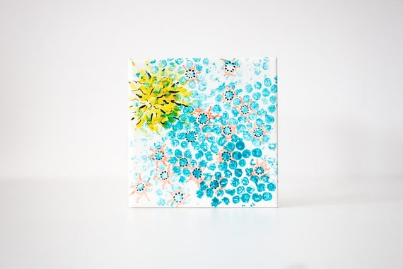 Hand Painted Art Tile - Fireworks . B64 - reserved for jchua312