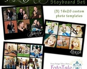 INSTANT DOWNLOAD - Just Smile Collage/Storyboard Set - (3) 16x20 custom photo templates for photographers