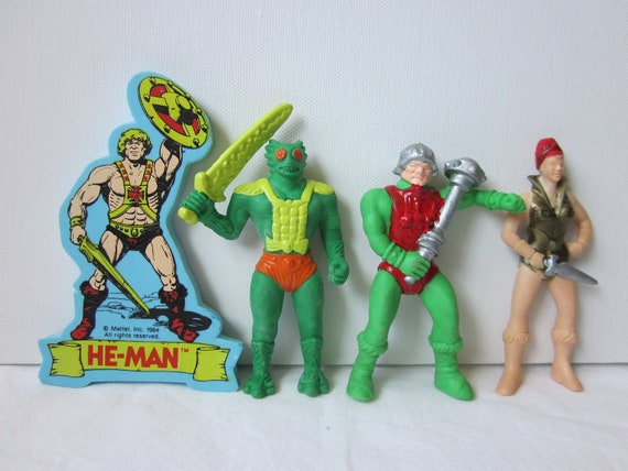 Vintage He-Man Masters of the Universe Erasers