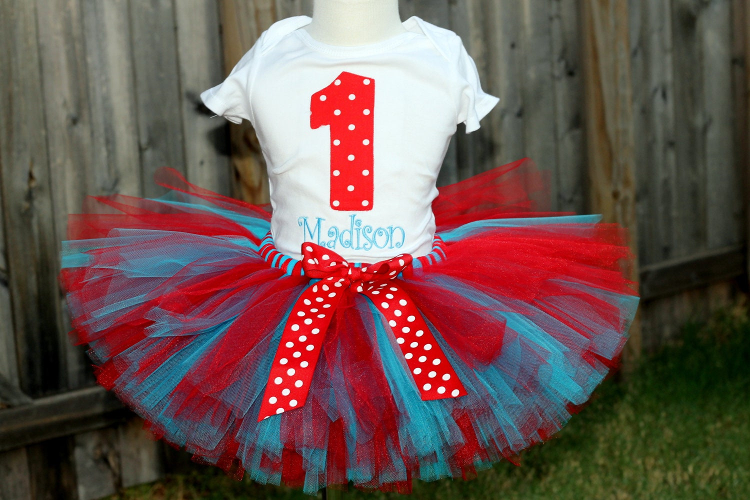 Dr Suess Thing 1 Thing 2 Tutu 8 Inch Length And Onesie Shirt