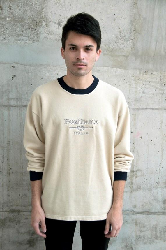 Vintage Long Sleeve Positano Sweater for Men