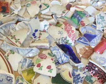 450g Bulk Order - Scottish Sea Pottery Mix - Job Lot - Mosaic - COLOUR Mix - Craft Project (Colour Pattern 450)