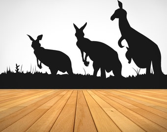 Vinyl Wall Decal Sticker Kangaroos OS_AA476m