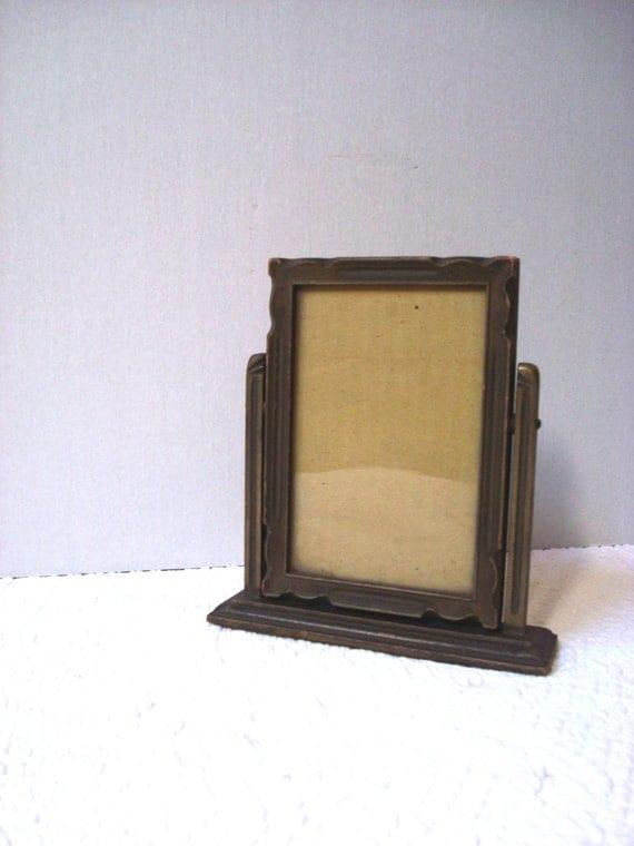 Vintage 1940's standing Carved Wooden  Frame