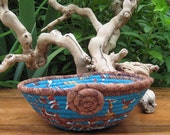Coiled Fabric Basket - Earth and Sky