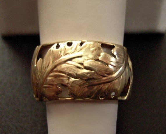 14k Solid Yellow Gold Ring Vintage 4.12grams SZ10 Italy