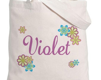 Personalized- Flower Name Tote