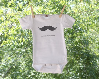Mama's Little Man Mustache Infant Bodysuit - TR