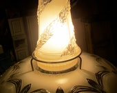 Antique Frosted Glass Chandelier