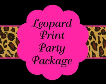 Hot Pink Leopard Birthday Invitation, Party Decorations, Party Supplies, Party Collection, Birthday Decorations!