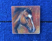 Coaster - sandstone, original artwork, horse