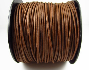 25 Yard Spool - 2mm Natural Leather Cord