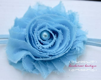 baby headband, newborn headband, infant headband, baby blue