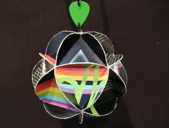 Pink Floyd Album Cover Ornament Made Of Record Jackets: Dark Side Of The Moon