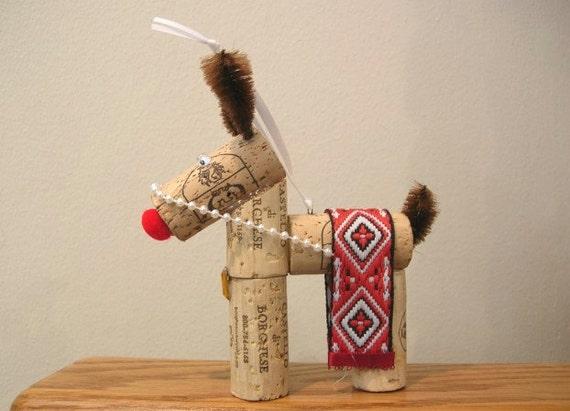 Wine Cork Reindeer Ornament - Christmas Decoration