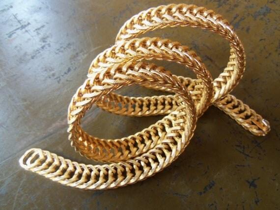60's Gold Standard--Chain Link Belt--Slinky--Heavy--Adjustable