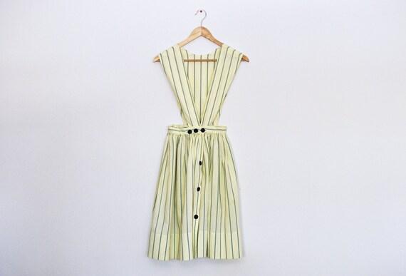 Vintage Striped Jumper  Dress