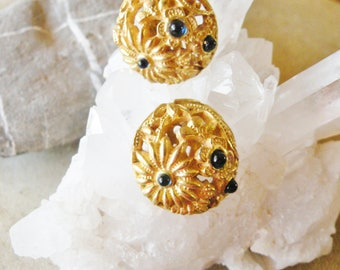 Dome Clip Earrings, Lucien Piccard Clip Earrings, Vintage Clip on