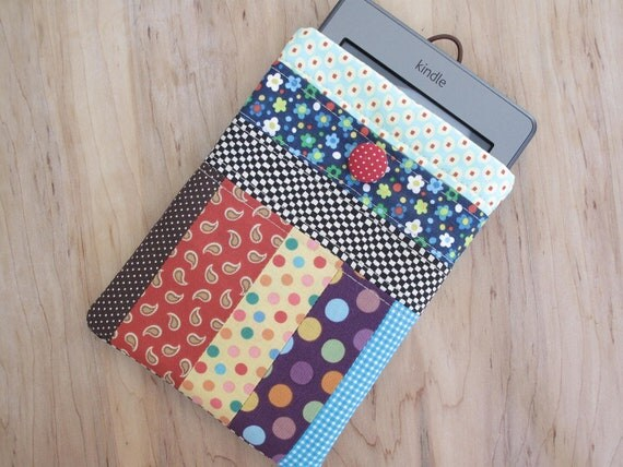 Cute patchwork kindle touch,  Kindle Voyage, Kindle Paperwhite and kindle case