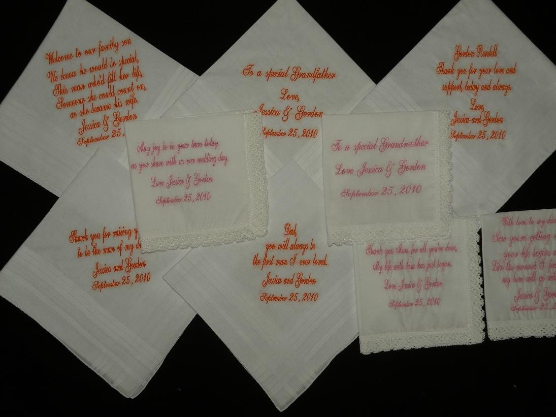 Items Similar To Personalized Wedding Handkerchiefs Women
