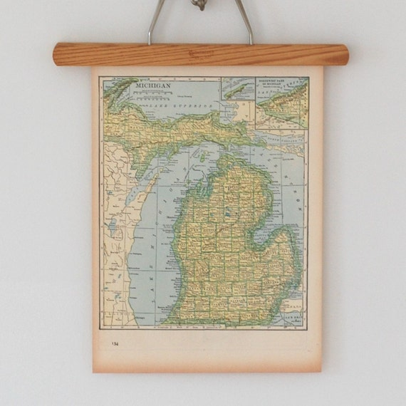 Antique 1940s Topographic Maps of Michigan and Massachusetts