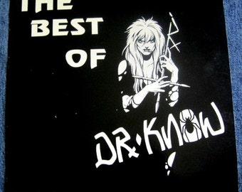 DR KNOW The Best Of Lp 1986 Original Ghetto Way Pressing Vinyl Record Album