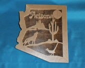 Arizona Wooden Scroll Saw State Plaque