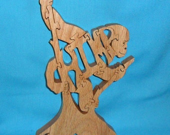Chimpanzee Handmade Scroll Saw Wooden Puzzle