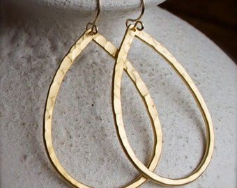 Gold Chandelier Earrings-Simple-Honey Gold-Spring Summer Earrings