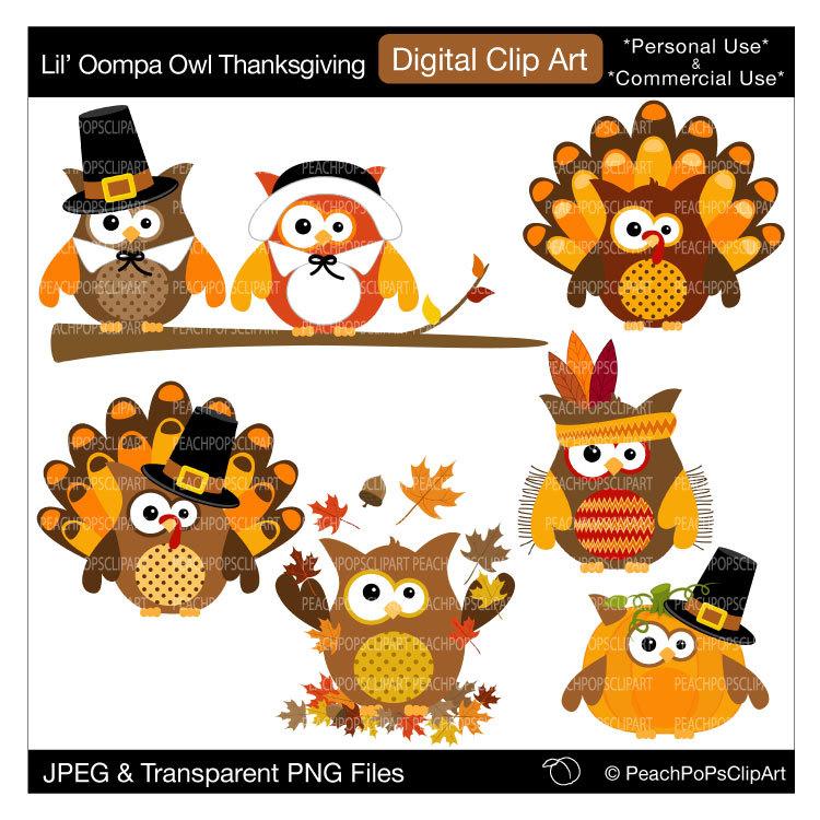 cute owls clip art clipart fall autumn pumpkin by ...