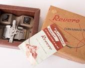 Revere Curv-A-Matic 8mm & 16mm Film Splicer w/Box, Instructions, Vintage 50s