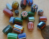 Colorful Millefiori Candy Glass Beads