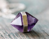 Banded Amethyst Necklace - Fine & Sterling Silver