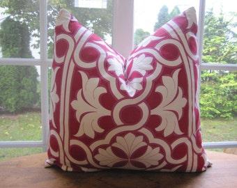 Pillow, Decorative Throw Pillow Cover, Designer Cherry Links Pillow Cover 20 x 20, 22 x 22