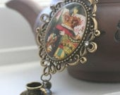 The Mad Hatter's Tea Party Necklace....vintage inspired, Alice in Wonderland, tea party, whimsical.....