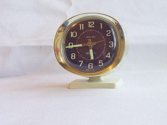 Vintage Wind Up Clock Bedside Clock Westclock Baby Ben Alarm