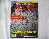 Decorative Crochet Magazine, January 1992 Issue 25 Vintage Crochet Pattern Book, Thread, Doilies, Doily Patterns, Thread Crochet pattern