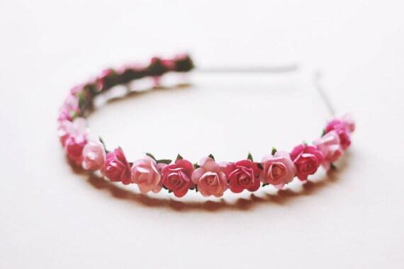 little rosie headband - pinkie // woodland collection