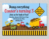 Dump Truck Construction Birthday Invitation Dump Truck Birthday Party Invitation Printable
