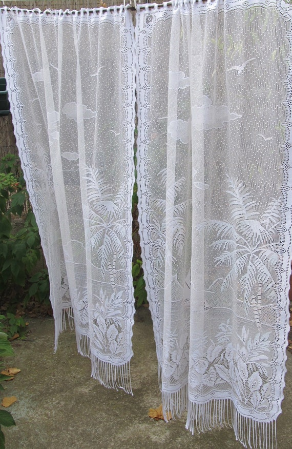 Vintage Lace Door Panels French Panels Lace Curtains